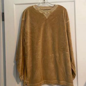 👚 Velour sweatshirt top